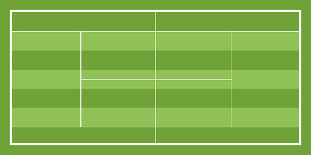 Isolated aerial view of a tennis field image. Vector illustration design