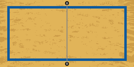 Isolated aerial view of a beach volleyball field. Vector illustration design