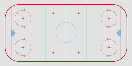 Isolated aerial view of a hockey field. Vector illustration design Illustration