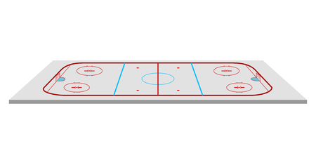 Isolated hockey field image. Vector illustration design
