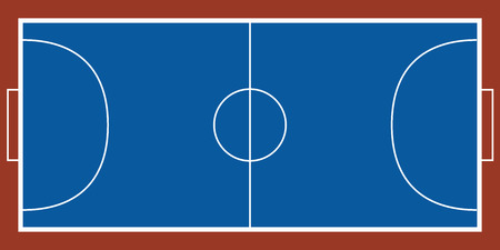 Isoalted aerial view of a futsal field image. Vector illustration design
