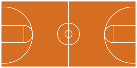 Isolated aerial view of a basketball court image. Vector illustration design