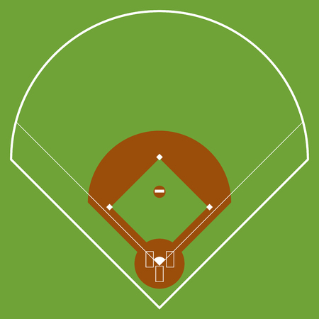 Isolated aerial view of a softball field image. Vector illustration design