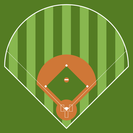 Isolated aerial view of a softball field image. Vector illustration design Stock Vector - 125808673