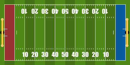 Isolated aerial view of a football field. Vector illustration design