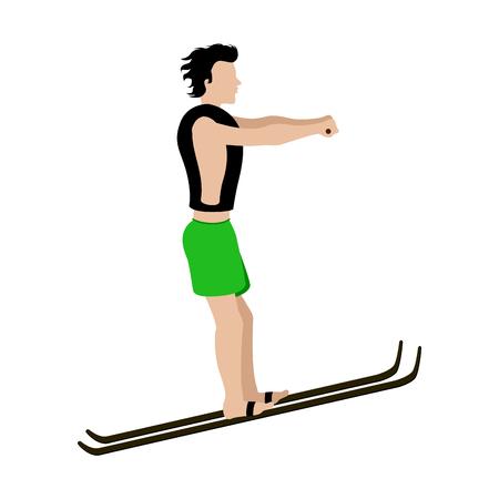 Water skiing man image. Vector illustration design Illustration
