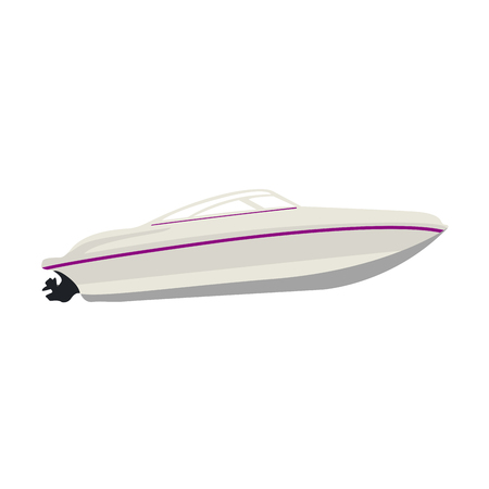 Isolated boat lateral view. Vector illustration design