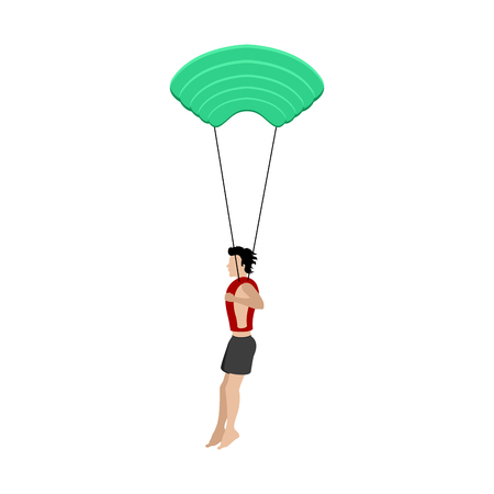 Isolated young paratrooper image. Vector illustration design