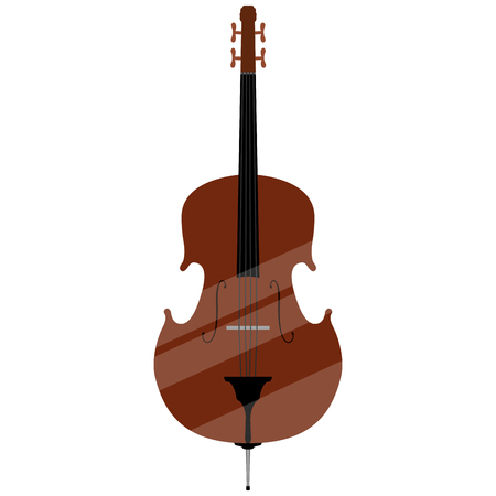 Isolated double bass image. Musical instrument. Vector illustration design