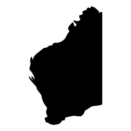 Silhouette of the map of Western Australia. Vector illustration design Illustration