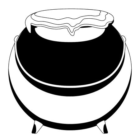 Isolated witch cauldron image. Vector illustration design