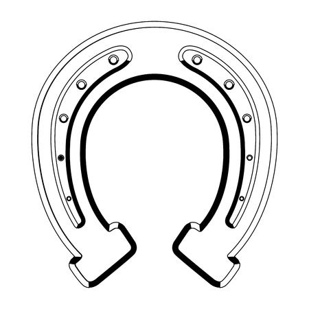 Isolated patrick day horseshoe. Vector illustration design Vetores