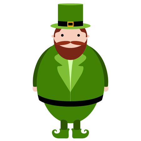 Isolated abstract patrick day elf. Vector illustration design