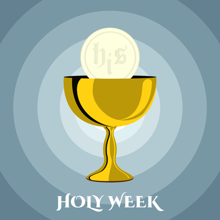 Holy week banner with a chalice and host Standard-Bild - 118852553