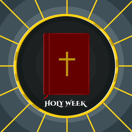 Holy week banner with a bible Standard-Bild - 118852556