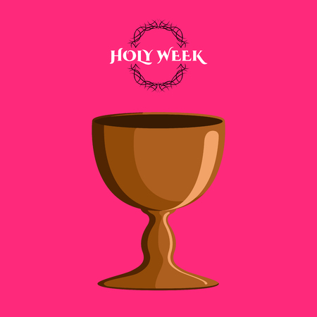 Holy week banner with a chalice