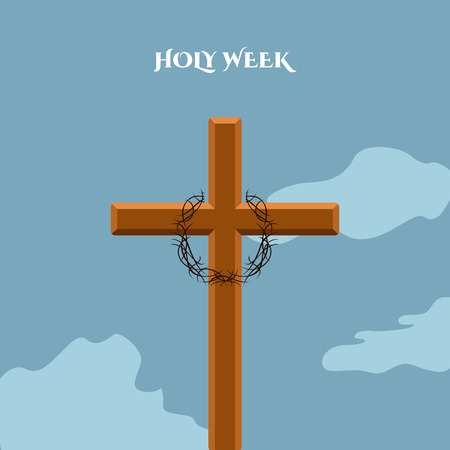Holy week banner with a cross