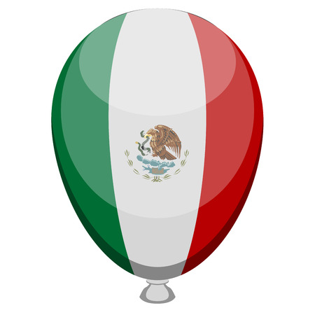 Balloon with the flag of Mexico. Vector illustration design Illustration