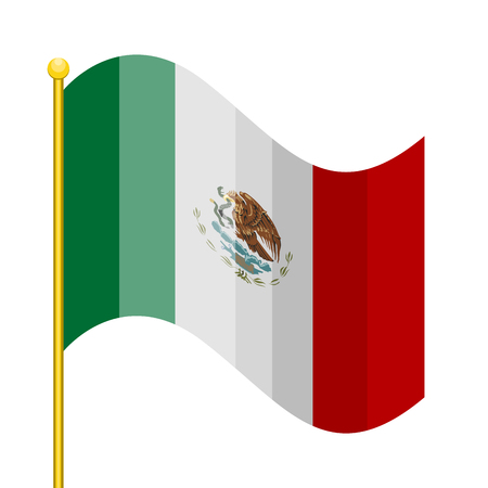 Waving flag of Mexico. Vector illustration design