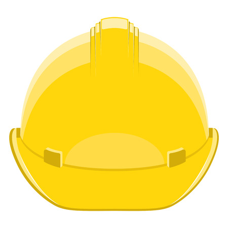 Isolated construction helmet image. Vector illustration design