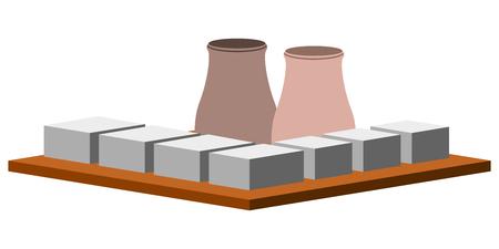 Isolated nuclear power plant. Vector illustration design Vecteurs