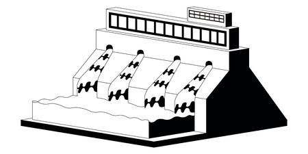Monochromatic hidropower plant image