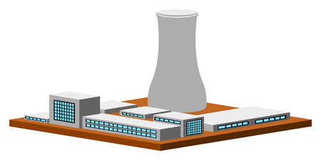 Isolated nuclear power plant. Vector illustration design