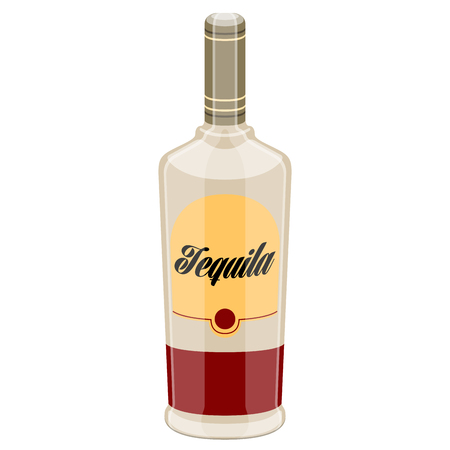 Isolated tequila bottle image. Vector illustration design