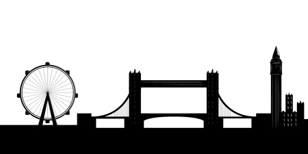 Silhouette of a London cityscape. Vector illustration design
