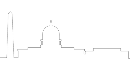 Outline of a Washington cityscape, Vector illusttration design