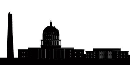 Silhouette of a Washington cityscape. Vector illustration design Illustration