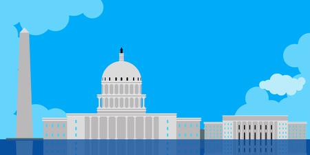 Colored Washington cityscape image. Vector illustration design