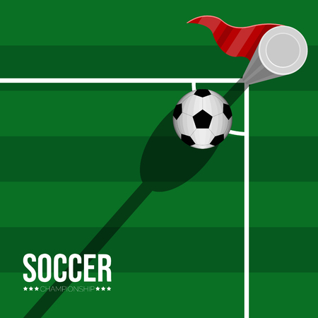 Isolated soccer poster