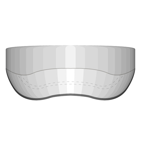Isolated visor cap image. Vector illustration design Çizim