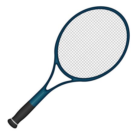 Obraz na białym tle rakiety tenisowej Ilustracje wektorowe