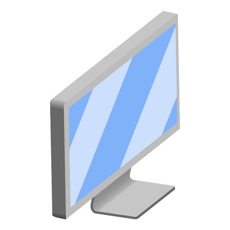 Isolated 3d monitor screen. Vector illustration design Ilustração