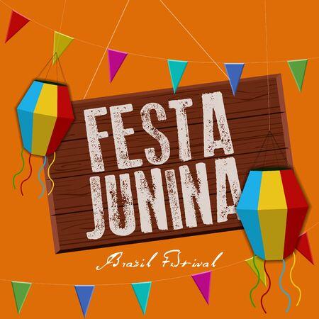 Festa junina poster. Brazilian festival