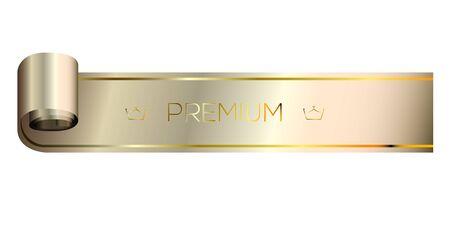 Isolated platinum premium label