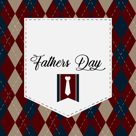 Happy father day vintage gift card