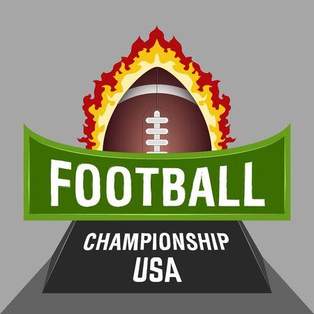 Isolated football emblem