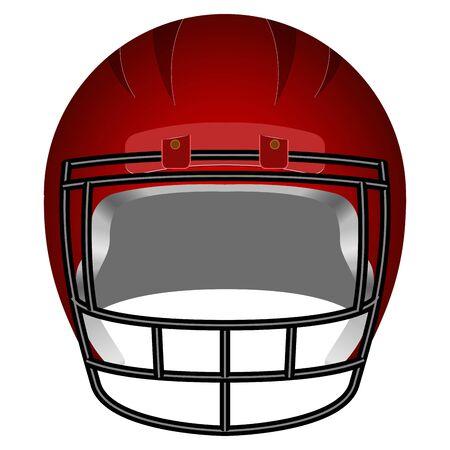 Isolated football helm Vettoriali