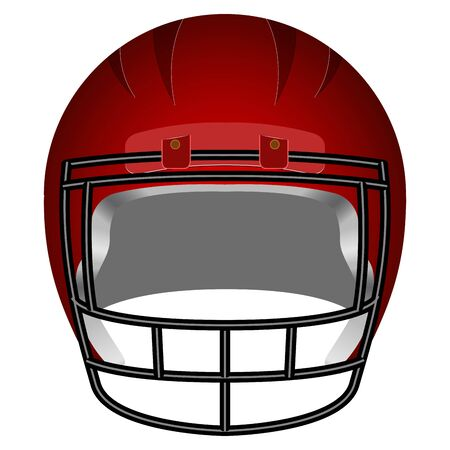 Isolated football helm Illustration