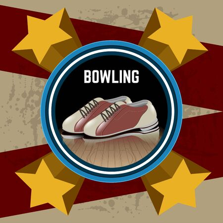 Isolated bowling poster