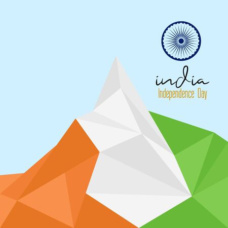 Conception graphique de la fête de l'indépendance de l'Inde Vecteurs
