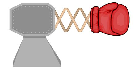 Isolated bunker with a boxing glove Illustration
