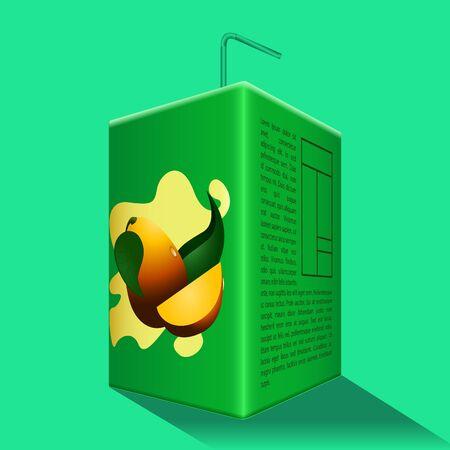 Mango juice box