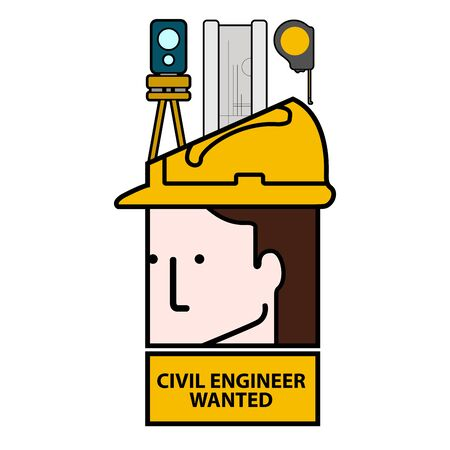 Civil engineer wanted avatar image - Vector illustration