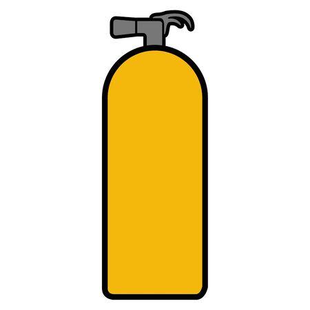 Isolated extinguisher icon