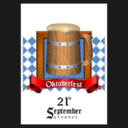 Oktoberfest poster image Ilustração