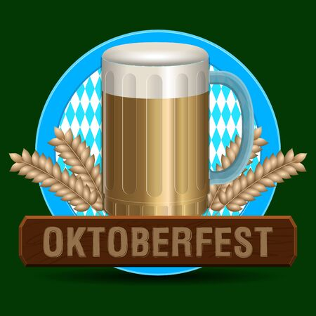 Oktoberfest poster image Illustration
